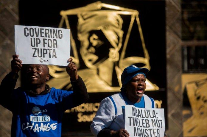 DA protest at NPA